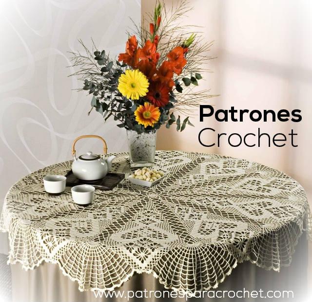 Carpeta Cubre Mantel Crochet / Patrones | Patrones para Crochet
