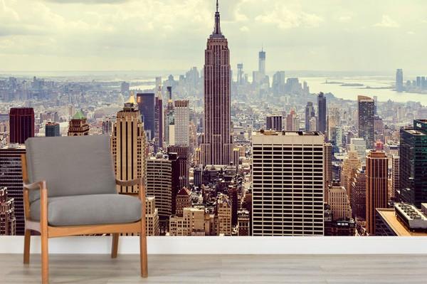Kaupunki Tapetti  New York Valokuvatapetti Manhattan Skyline