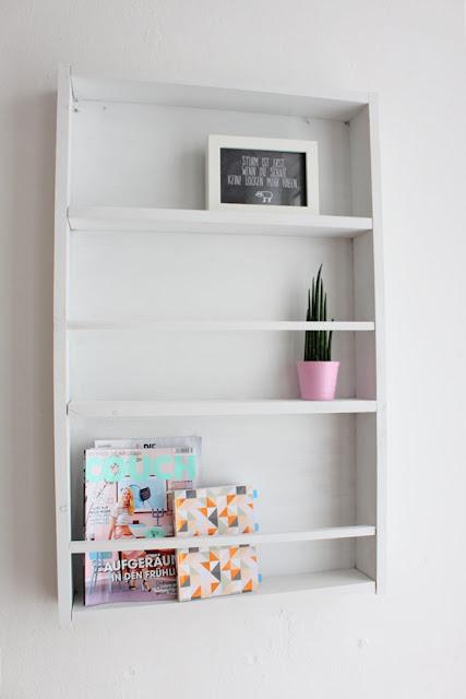 Fleur et Fatale deutscher Interiorblog zeigt DIY für Wandregal
