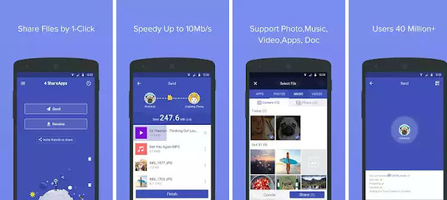 4 Share Apps - Aplikasi Sharing File Terbaik