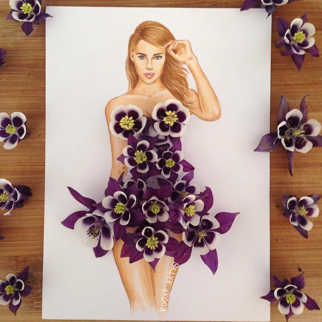 06-Flowers-Edgar-Artis-Drawings-that-use-Flowers-Food-and-Objects-www-designstack-co