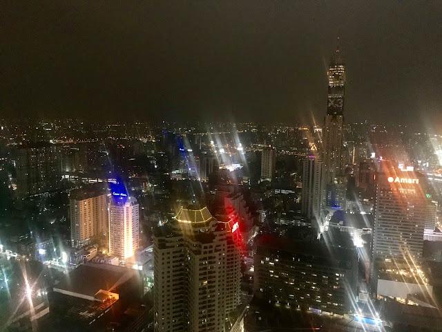 Bangkok rooftop view