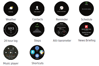 Samsung Gear S3 Settings