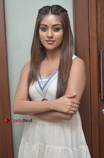 Telugu Actress Anu Emmanuel New Stills in Beautiful White Long Dress  0028.JPG