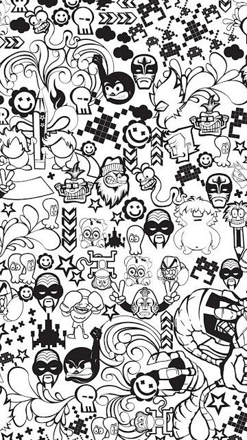 wallpaper hd wa black and white fun