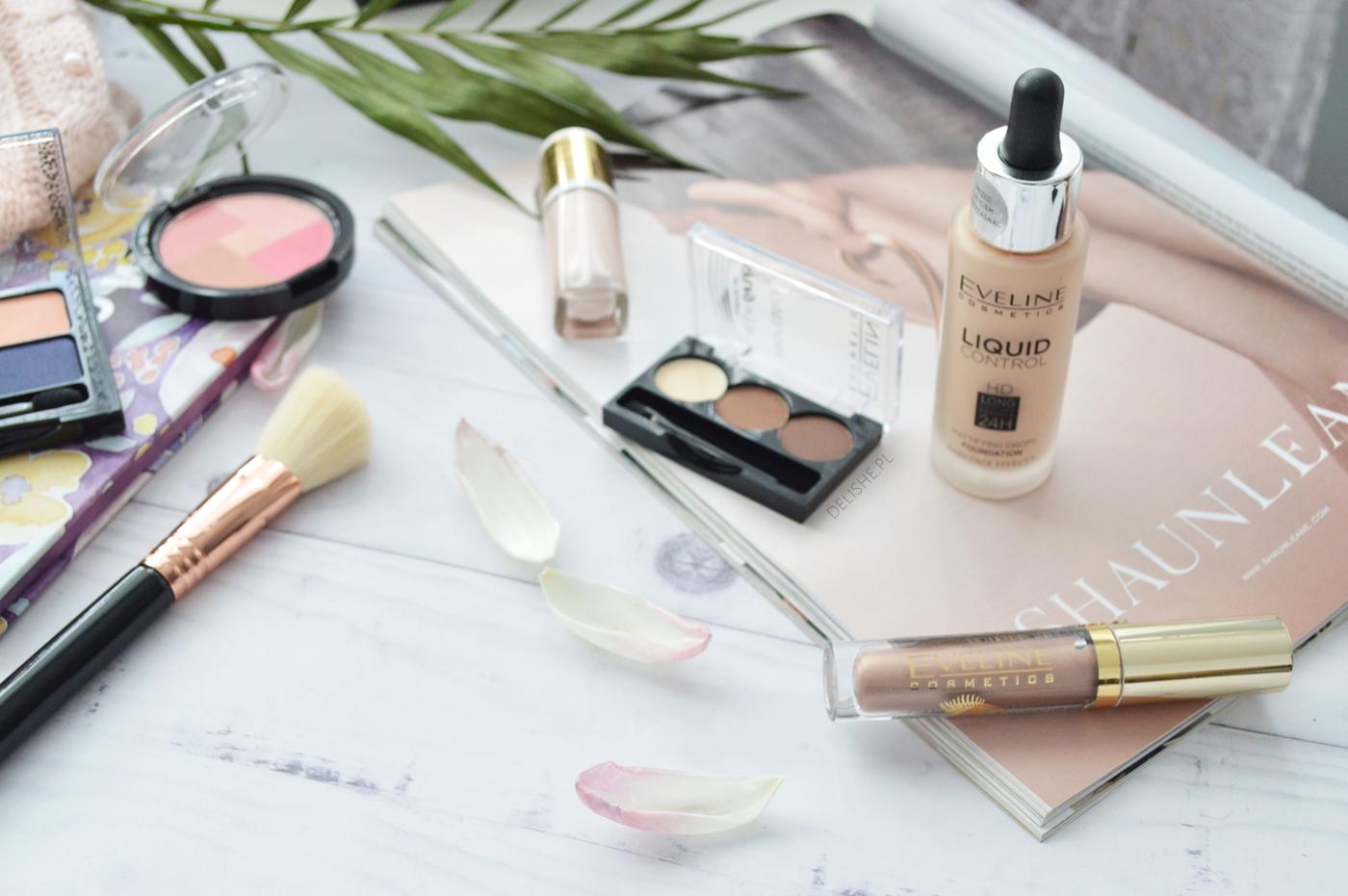 eveline cosmetics kremowy rozświetlacz i kremowy metaliczny cień do powiek