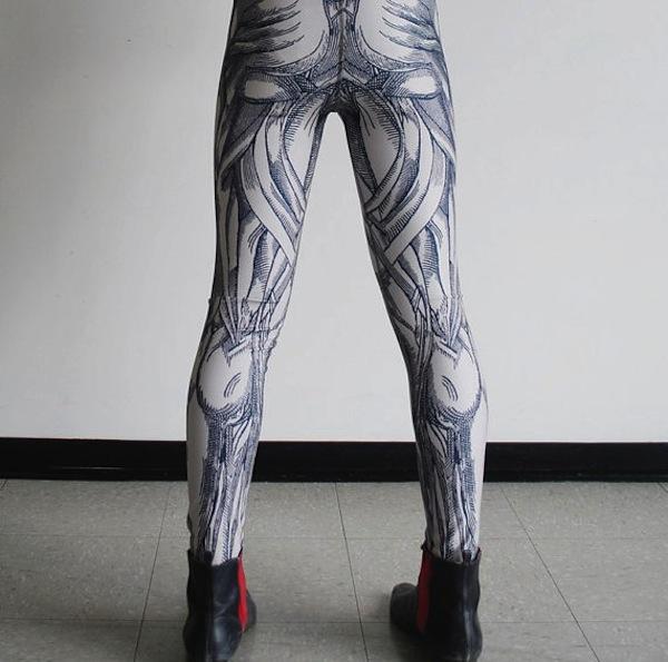 hand-printed leggings