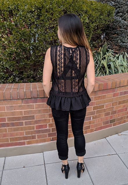 Zara Backless Lace Shirt
