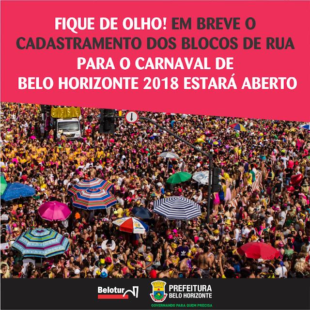 PBH abre cadastro de Blocos de Rua para o Carnaval 2018
