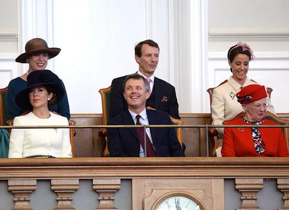 Queen Margrethe, Crown Prince Frederik, Crown Princess Mary, Prince Joachim, Princess Marie, Princess Benedikte