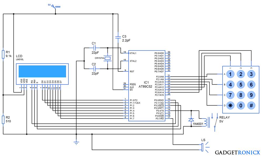 circuit diagram of keypad interfacing images circuit circuit diagram of keypad interfacing 8051