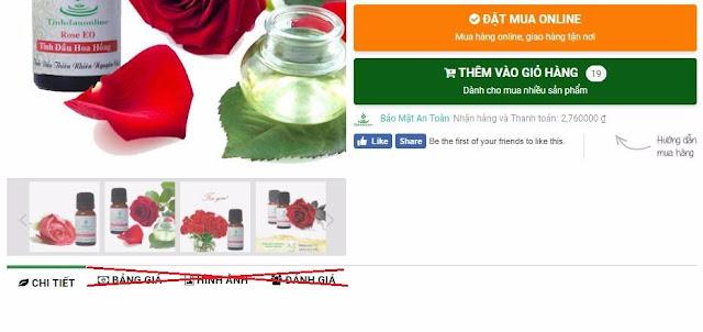 Ẩn tab trong bài viết bán hàng trong template TinhdauOnline