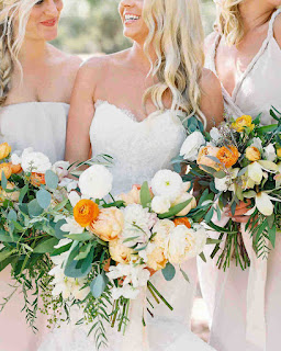 full flower and leaf wedding bouquet for bridesmaid