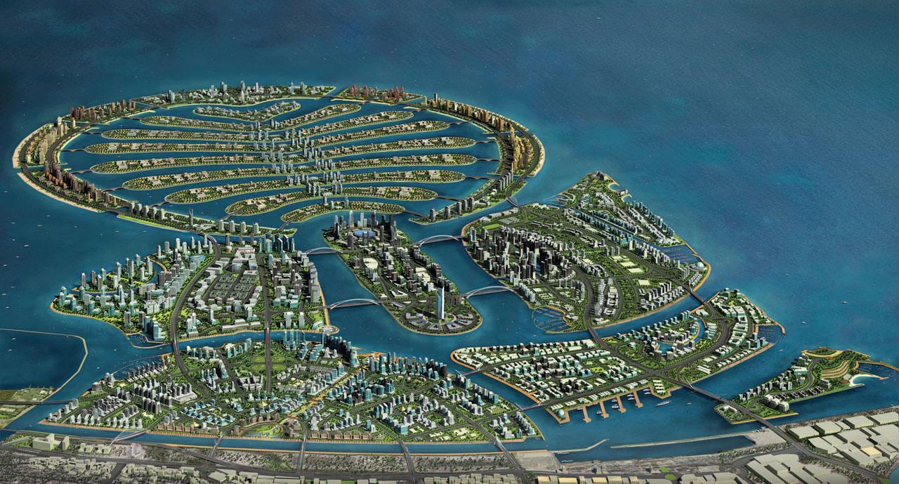 Worlds Incredible Palm Islands Dubai The Palm Shaped