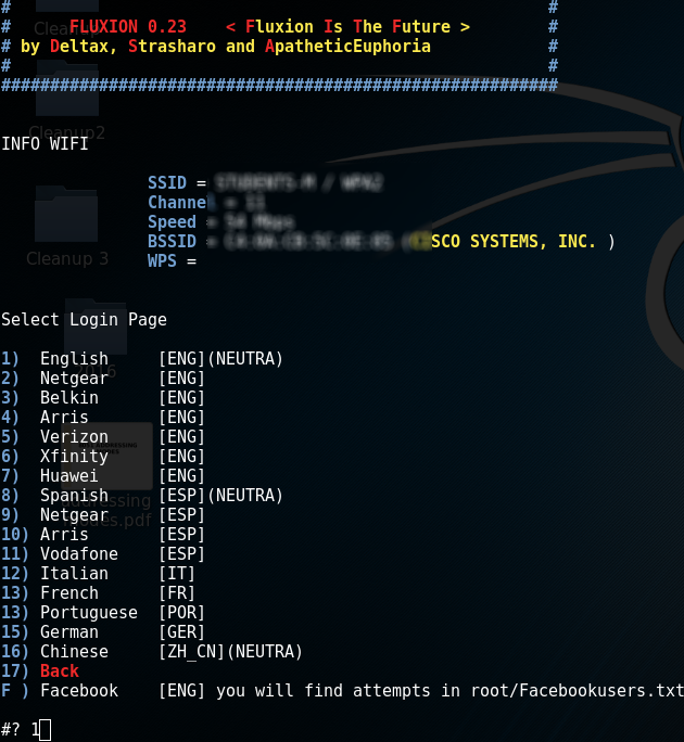 Hacking WPA/WPA2 without dictionary/bruteforce : Fluxion - Kali