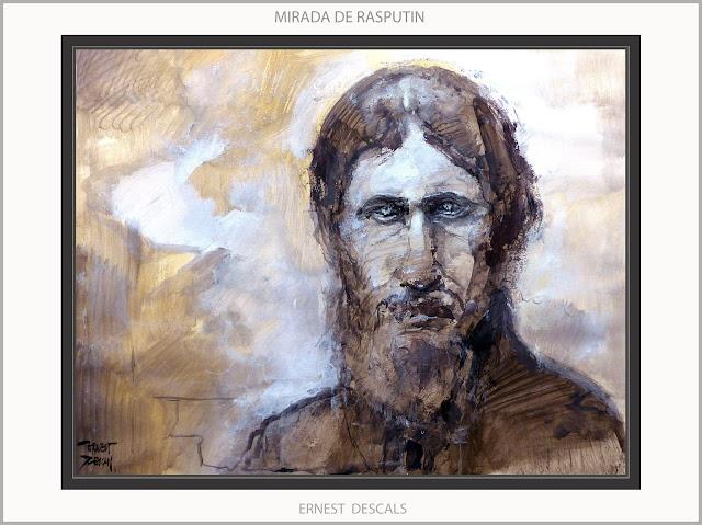 RASPUTIN-ARTE-ART-PINTURA-RETRATOS-PERSONAJES-RUSIA-ZARISTA-HISTORIA-OJOS-MIRADA-HIPNOTICA-PINTURAS-ARTISTA-PINTOR-ERNEST DESCALS-