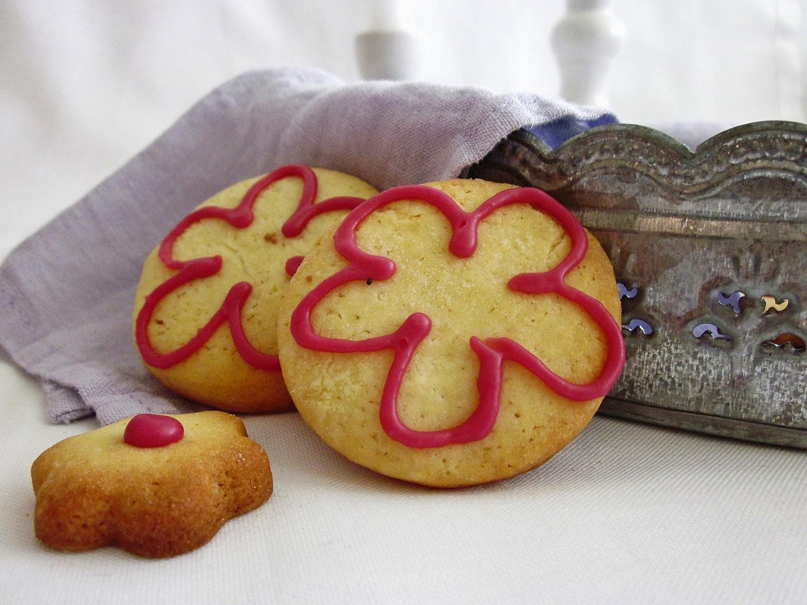 Sugar Cookies mit ätherischem Zitronen-Öl Nahaufnahme