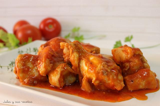 Pollo con tomate. Julia y sus recetas