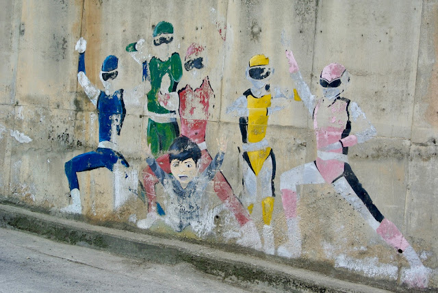 south korea cheongju suamgol village power rangers street art
