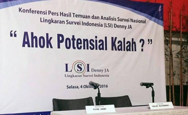 Survei LSI: Ahok Potensial Kalah?
