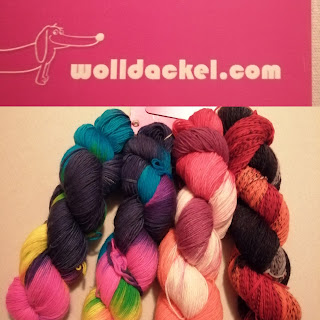 TinklkniT Wolle handgefärbt Wolldackel Disco Fever San Francisco Amadeus