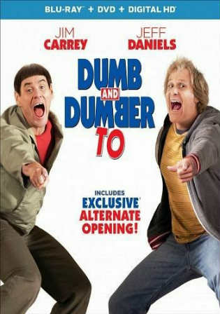Dumb And Dumber To 2014 BRRip 350Mb Hindi Dual Audio 480p