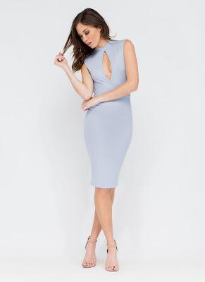 vestidos de noche cortos con escote