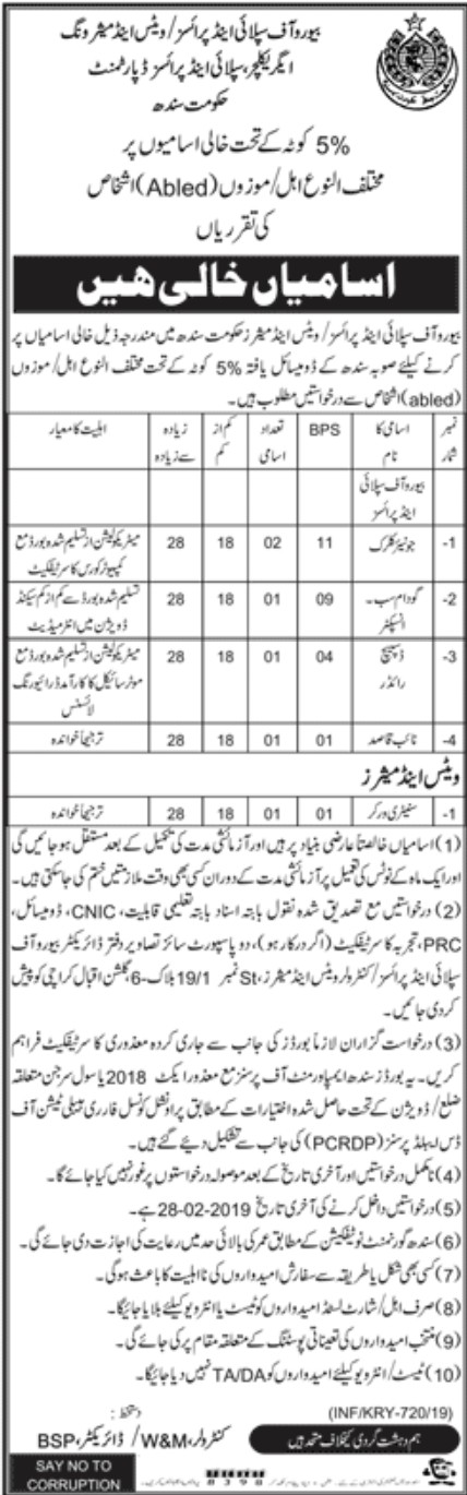 Bureau of Supply and Prices Jobs