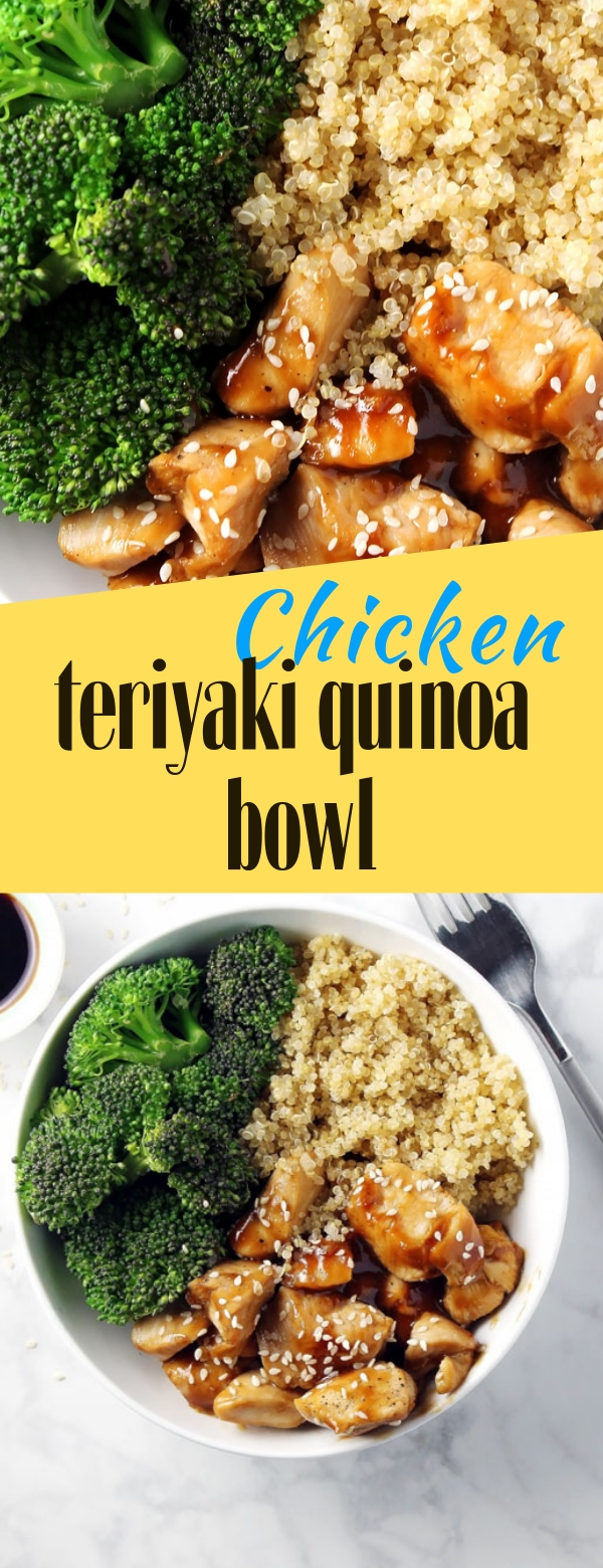 Chicken teriyaki quinoa bowl #chicken #teriyaki #quinoa #maincourse #deliciousfood #deliciousrecipes