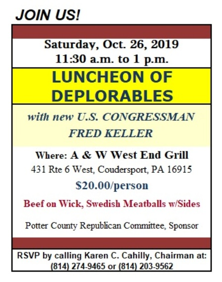 10-26 Luncheon of Deplorables, Coudersport