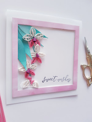 quilled flowers, paper orchids, orchid quilling quilled orchids, quilled card, simple quilling, cards by ishani, quillish