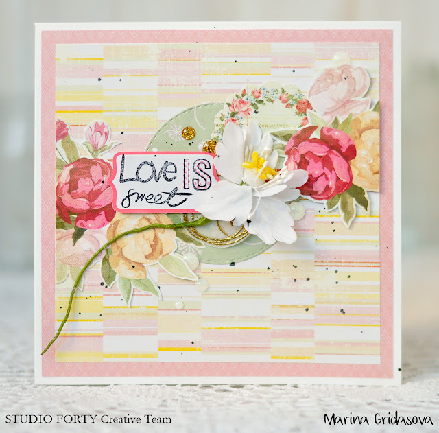 love cards | Studio Forty DT @akonitt #card #cards #studioforty #clearstamp #by_marina_gridasova #sticker #clearstickers #cardmaking