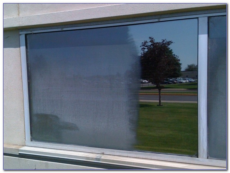 hard water stains on windows