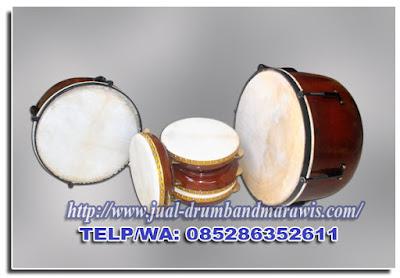 paket alat musik hadroh mahoni polos warna natural