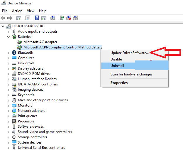 how to change windows 10 battery popup