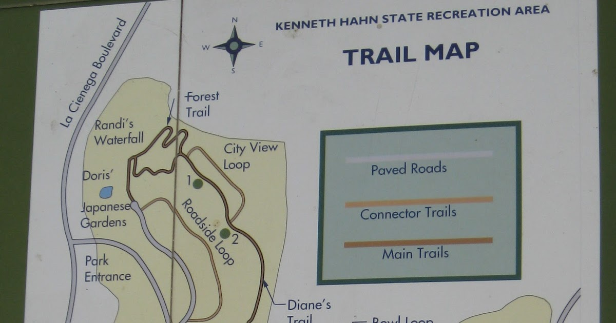 Walking at Kenneth Hahn SRA, Los Angeles - October 2012 on kenneth hahn recreation area of the map, salton sea state recreation area map, whittier narrows recreation area map, mount diablo map, auburn state recreation area map, hans peak colorado map, west hollywood map,