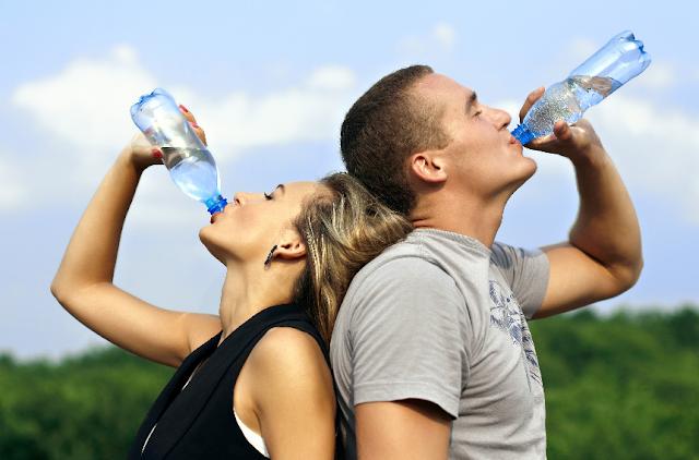 Beber água em Las Vegas