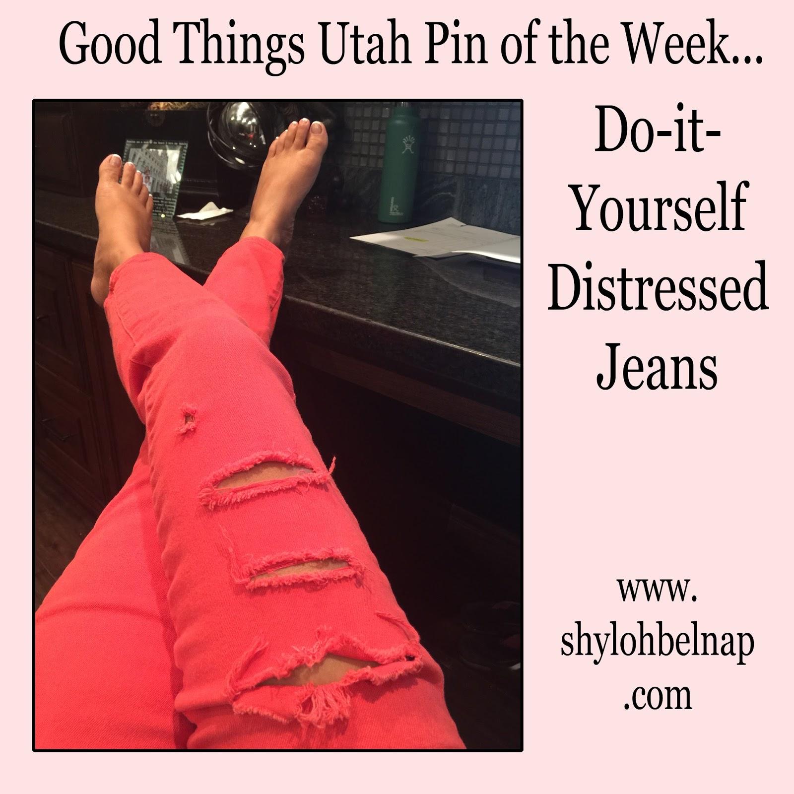 Shyloh Belnap Diy Distressed Jeans