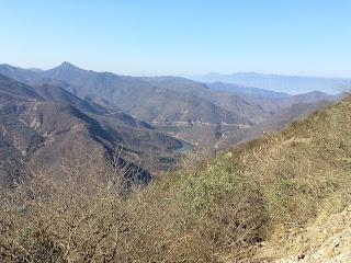 Bela cadeia de montanhas.