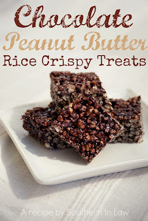 Healthy Chocolate Peanut Butter Rice Crispy Treats Recipe