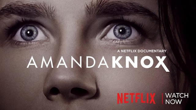 the poster for the netflix doc about amanda knox