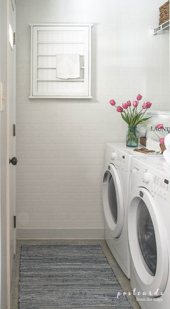 Small Laundry Room Refresh 100 Room Challenge Postcards from