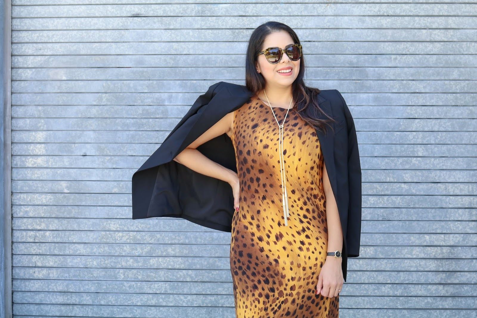 Lafayette 148 New York reversible leopard dress, Lafayette 148 NY black blazer