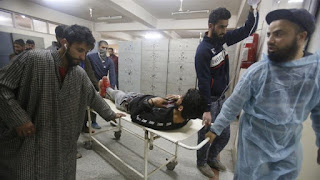 Seven civilians and three armed rebels have been killed during a gun battle in Pulwama in Indian-administered Kashmir, officials said.