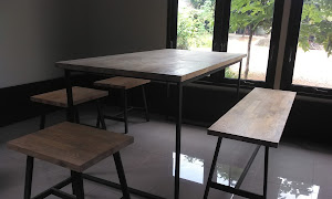 FJL Table Set With Iron Legs