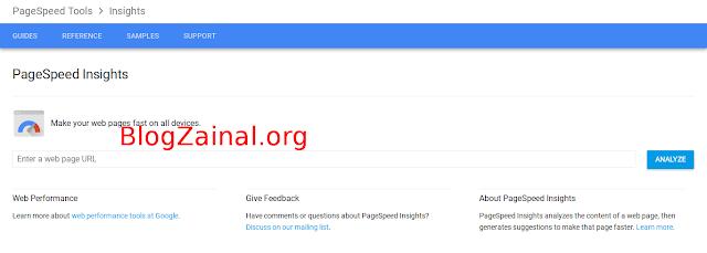 Cara cek kecepatan Website versi tool Google