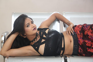Shriya Vyas in a Tight Backless Sleeveless Crop top and Skirt 15.JPG