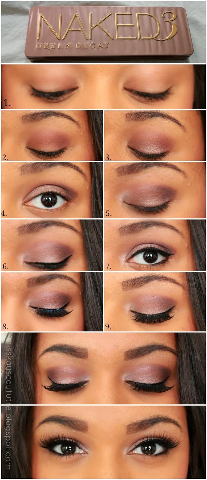 Naked Eyes Neutral Eyeshadow Guide: Pictorial: UD Naked 3 Smokey Eye