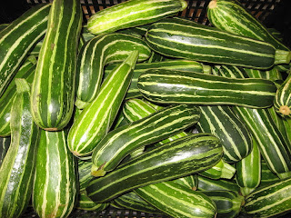 Beautiful striped green squash