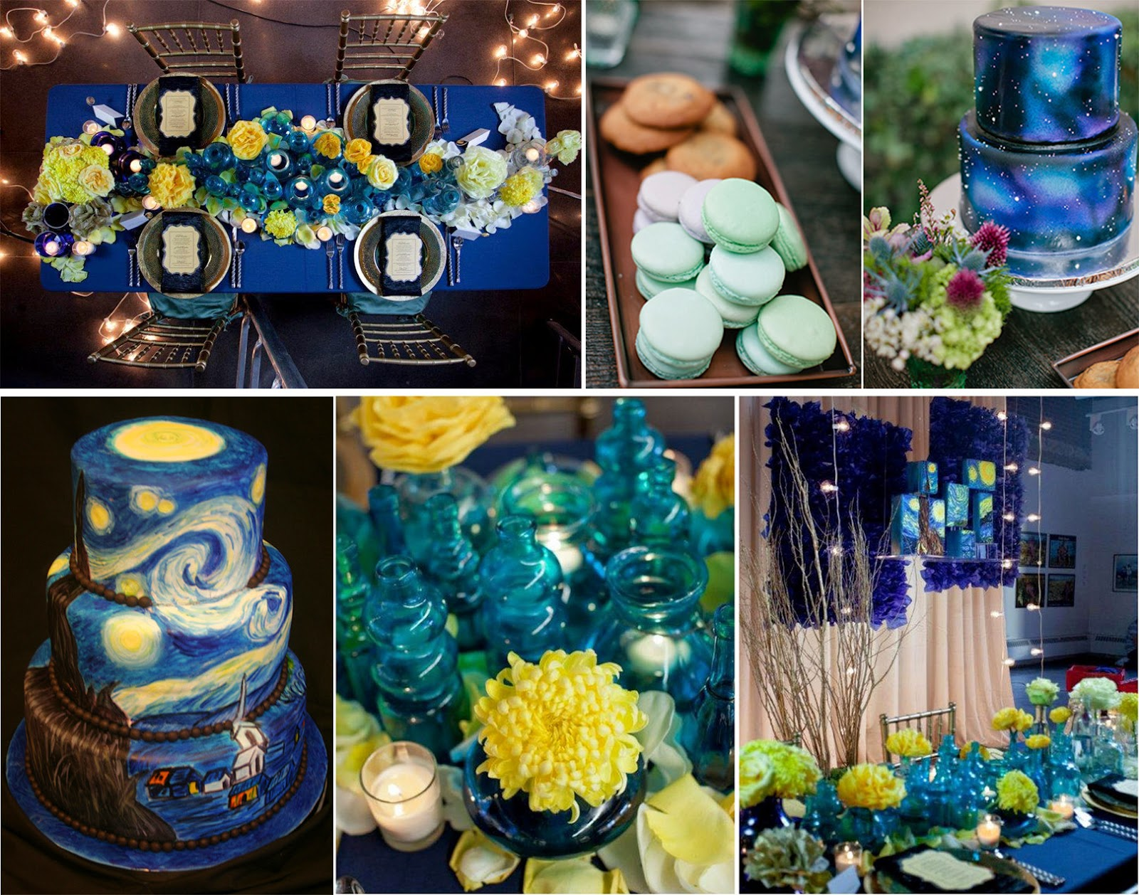 Prom Dress Starry Night Theme Wedding Inspirations